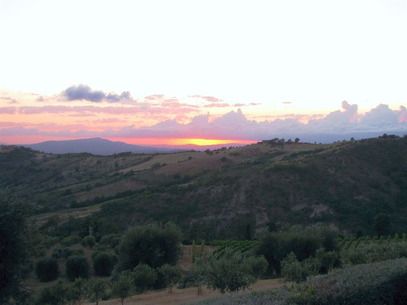Sunset from La Pieve