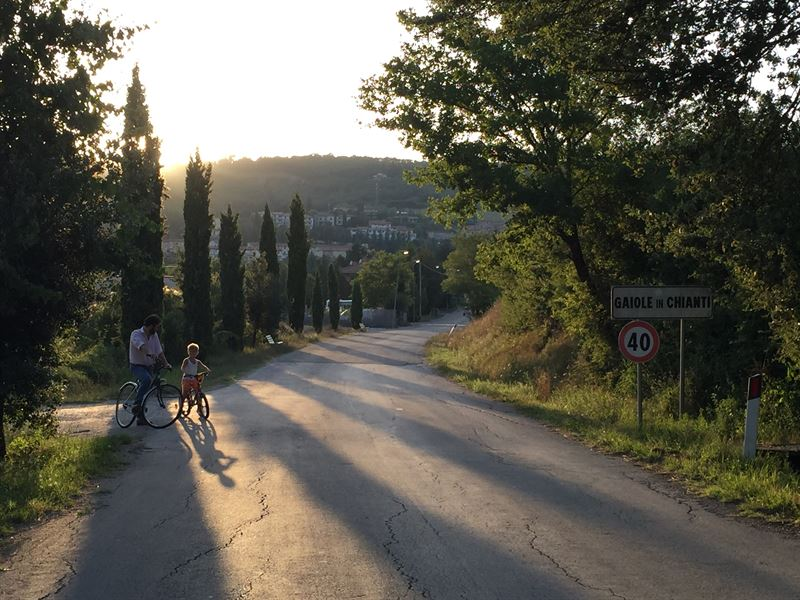 Sunset near Gaiole in Chianti