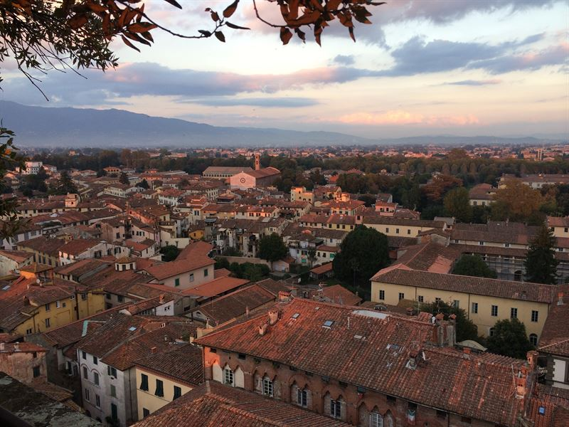 Lucca at sunset
