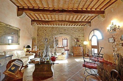 wohnzimmer dekoration ideen: toskana, ferienhaus casa dina in san