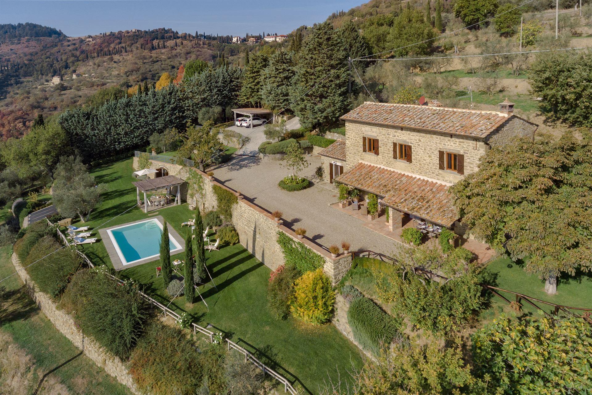 Tuscany Villa Villa Tegognano   Rental in Cortona   Arezzo and ...